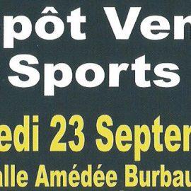 Dépôt vente Sports (samedi 23 septembre)