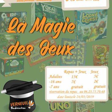 Soirée festive «La Magie des Jeux» à Verneuil