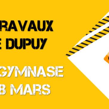 Retour au gymnase Pierre Dupuy