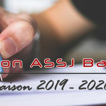 Inscription ASSJ Badminton (saison 2019 – 2020)