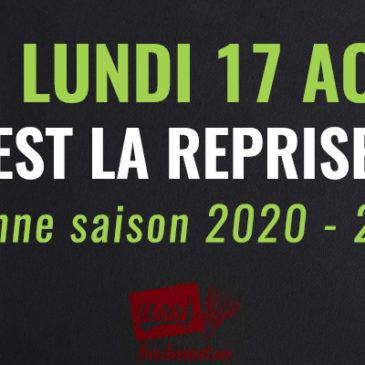 Reprise saison 2020/2021